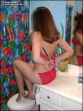 Cutie poses in the bathroom for some extra hot body shots. from Tawnee Stone