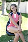 Tawnee Stone teases the camera in cute pink boy shorts from Tawnee Stone